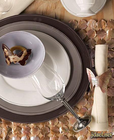 استايلات أشكال الطاولات مفارش وأكسسوارات الطاولات