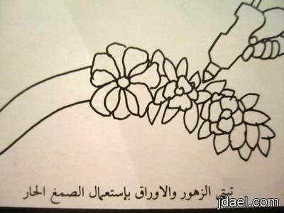 تزيين زهور للحائط بعلاقة الخشب