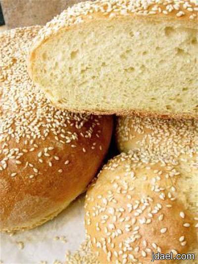 طريقة عمل خبز السميت بالحبه السوده والسمسم انواع خبز سميت