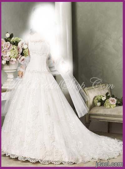 فساتين زفاف للعروسه بتطريز وموديلات على الموضه