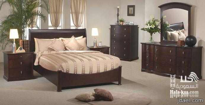 غرف نوم بديكورات الجلد والكلاسيك وجديد موديل المودرن