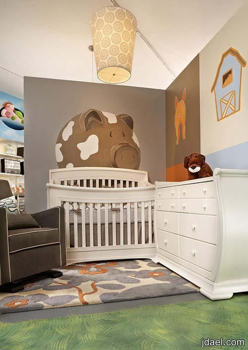 ديكورات غرف نوم اطفال للمصمم بل بامبيني   تصاميم غرف مواليد