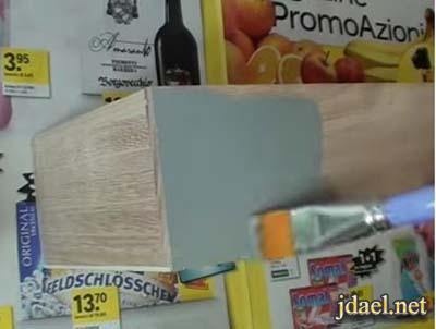 تعتيق صناديق الخشب لادوات المكياج والاكسسوار للبنات بالصور
