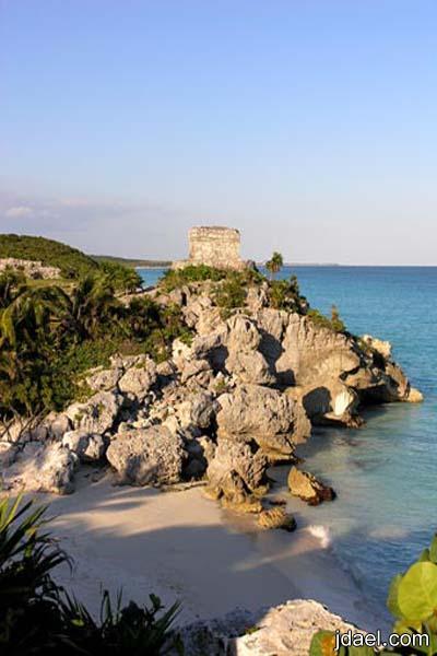 استرخاء على شاطئ كانكون المكسيكيه اجمل الشواطئ السياحية
