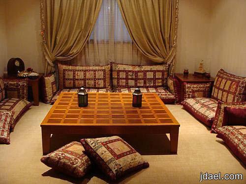 جلسات ارضيه مغربيه لمجالس البيوت الخليجيه وافخم الستائر بالطراز المغربي