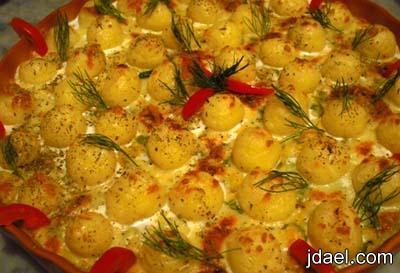 صينية بطاطس بالدجاج بخلطة خضار بالفرن المطبخ الايطالي