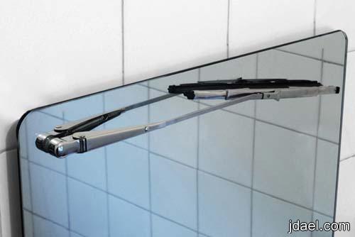 استخدام مساحة زجاج السياره ازالة بخار الماء مرايا الحمام
