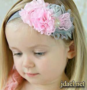 اكسسوار شعر للاطفال ربطات الشعر بالورد للبنات والبيبهات