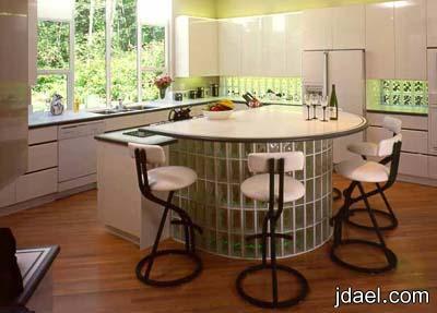 ديكورات الطوب الزجاج بلوك زجاجي شفاف وملون اشكال طوب زجاج