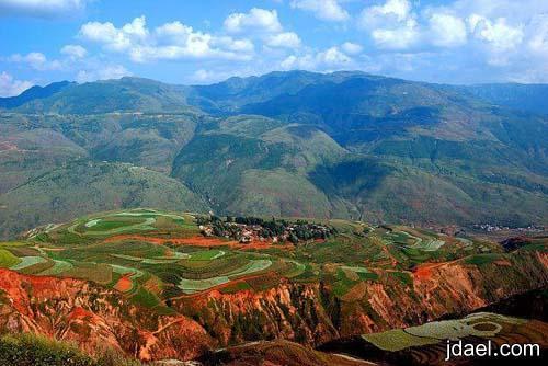صور جبال وسهول خلابه اجمل مناطق العالم بمنطقه نائيه بالصين