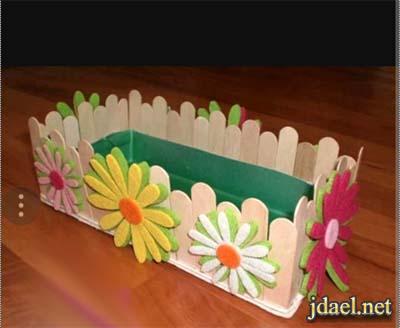 اروع الاعمال الفنية باعواد الايسكريم واحلى توزيعات وهدايا العيد