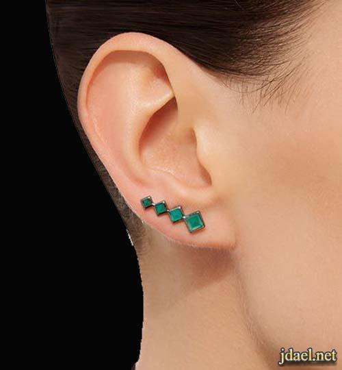 حلقان الماس غير عادية للبنات بروعة التصاميم واناقة مميزة