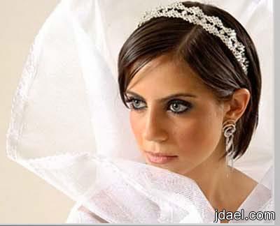 تسريحات شعر للعروسه للخطوبه والزفاف واكسسوارات تحفه