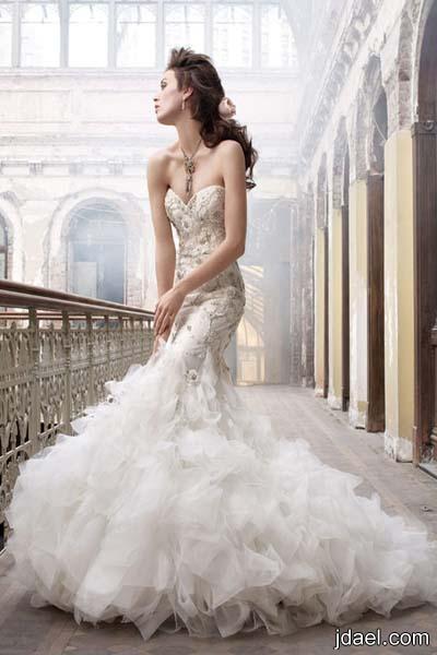 موديلات فساتين زفاف دانتيل 2013 افكار جديدة في قص القماش والتصميم بالدانتيل