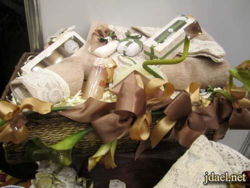 تزيين جهاز العروسه واحلى العلب والسلال بافكار جديده بالدانتيل