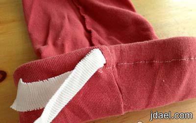 خياطة جوارب الملابس القديمه لاناقة البنوتات شراريب التيشرت المستخدم