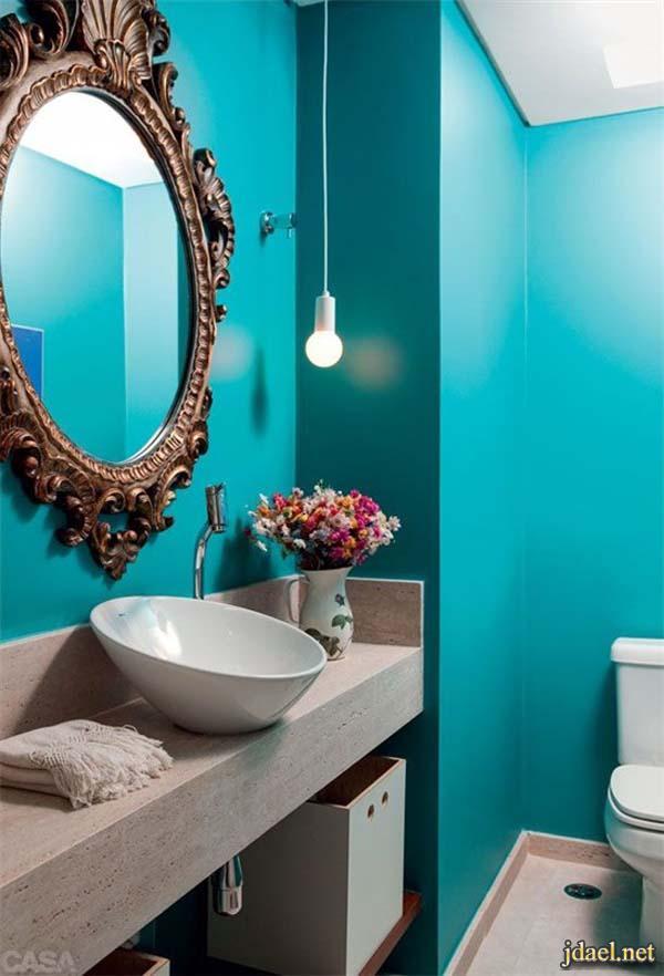 ديكور حمامات عصريه بلمسات كلاسيكيه فخمه