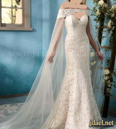 فساتين زفاف موضة وجديد المكياج والطرح للعروسة واكسسوار الشعر