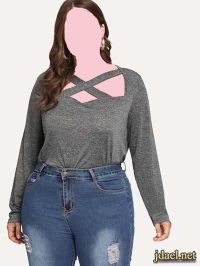 ملابس انيقة اسبور ومناسبات للسمينات اناقة مميزة للمتلئات