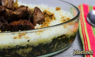 فتة الملوخية باللحمة المطبخ المصري على اصولها