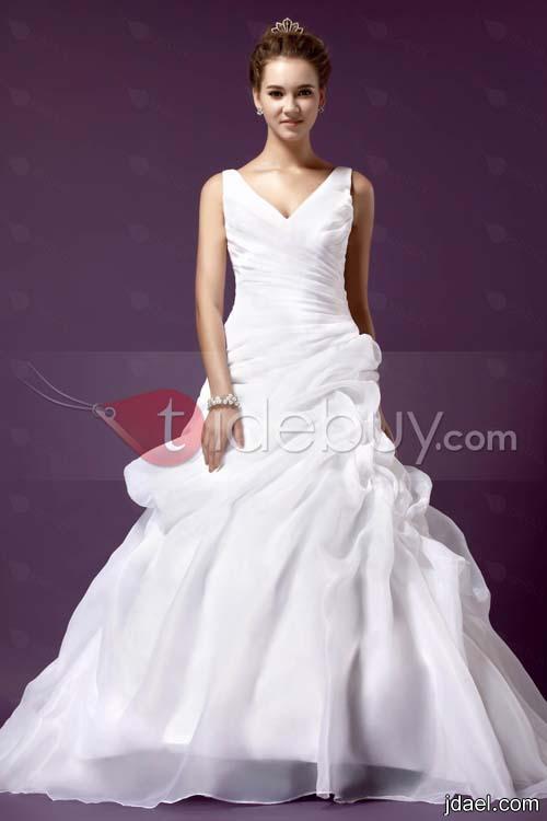 جديد فساتين الزفاف 2013 ارق الموديلات للعروسه فساتين عرايس بالشيفون