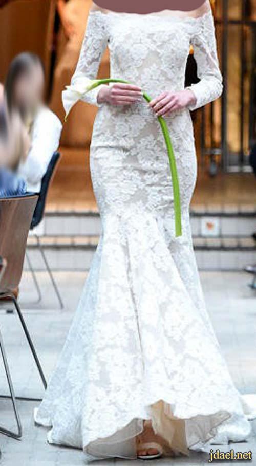 فساتين دانتيل للعروسة وقصات كلاسيك وراقية
