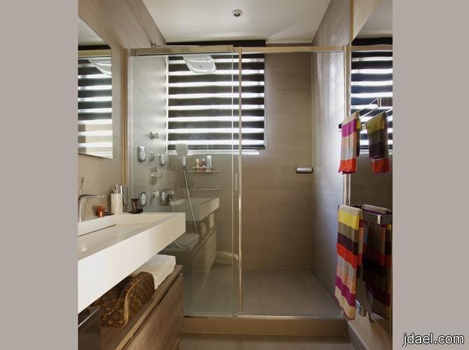 حمام ايطالي تصاميم الجدار والحوض والنوافد ديكور راقي