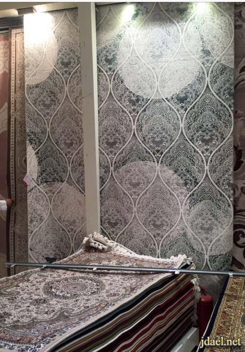 صور سجاد صوف تركي للمجالس باللون الرمادي