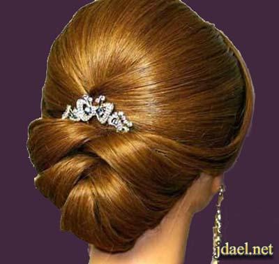 تسريحات شعر ملكيه للعروسه العصريه ليلة الزفاف
