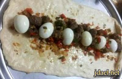 كيكة مالحة محشية باللحم والبيض المسلوق المطبخ المغربي