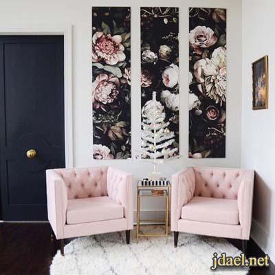 اجدد الالوان في الاثاث وورق الحائط والاكسسوار المنزلي باللون الزهري