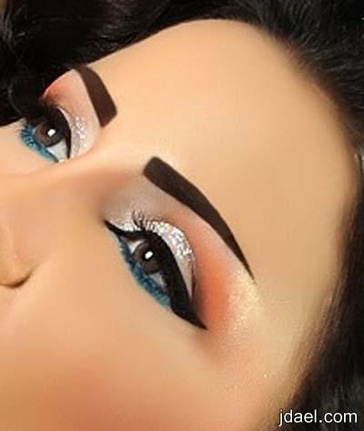 مكياج السهرات بالوان الموضه واجمل رسومات العين