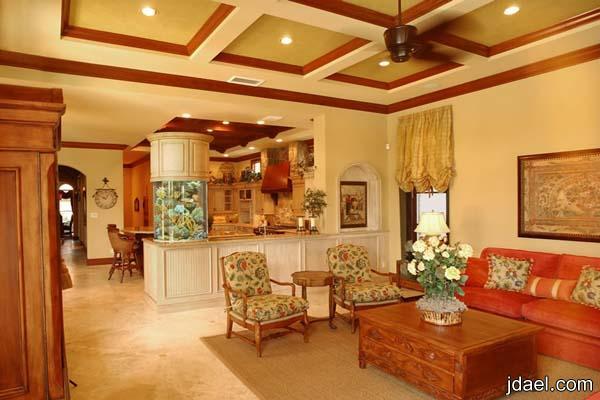 روائع الاثاث المنزلي بجمال الاسقف وديكورات لاركان البيت