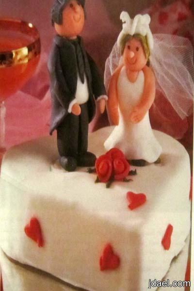 طريقة عمل كاتو العروسين طرطة الزفاف بيدك جاتوه العروس