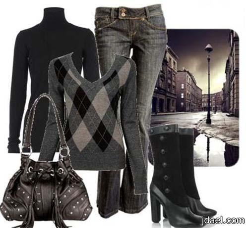 ملابس واكسسوارات الشتاء لاناقة النهار للبنات