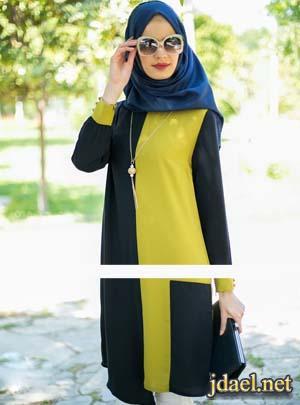 اجدد ملابس الحجاب للمحجبات واناقه ساحره بجمال الالوان