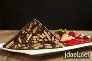 حلى سلامي حلى القهوة ليزي كيك بالشوكولاته المطبخ الاوربي