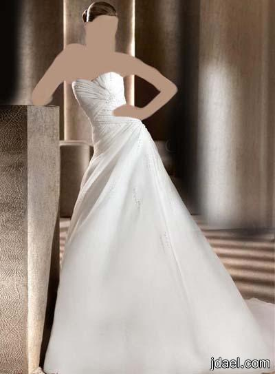فساتين زفة العروسه بموديلات قصيره وطويله ليلة الزفاف