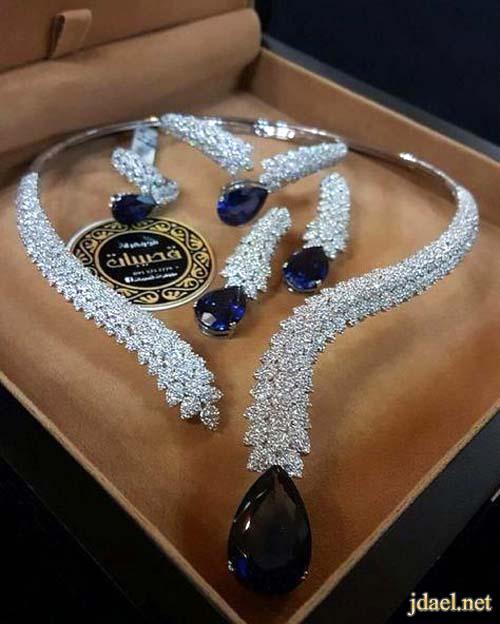 مجوهرات فخمة من احجار الماس زفير روبي زبرجد