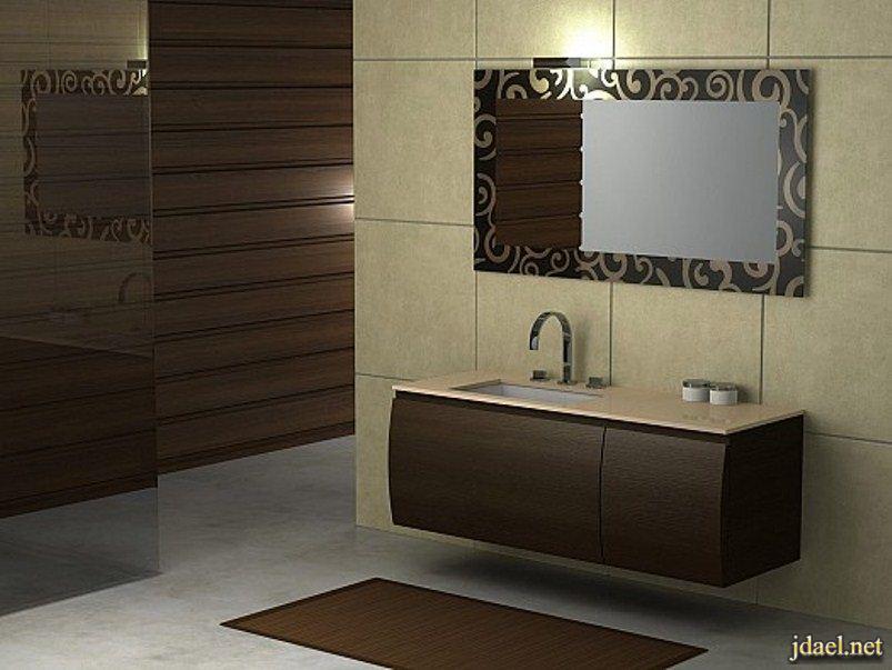 ديكورات وتصاميم مغاسل حمامات عصرية فخمة وراقية