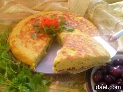 وجبة فطور تحضير تارت البطاطس بالبيض