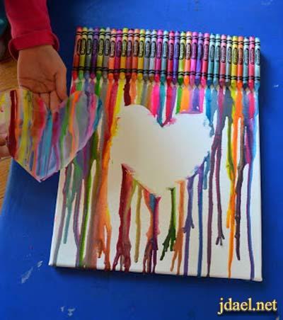 طريقة الرسم بالشمع الساخن على لوحات مميزة لتعليم الاطفال