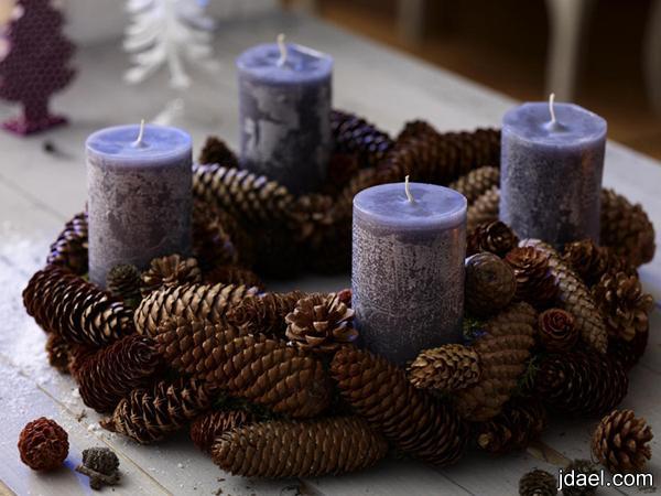 اكسسوار منزلي الشموع الرومانسيه لاجواء حالمه تشكيلة الشموع