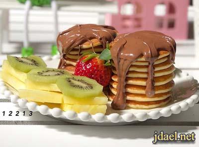 طريقة عمل ميني بان كيك بشوكولاتة نوتيلا وجالكسي