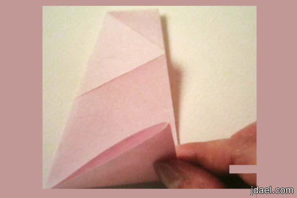 اطباق ورقية ملونة للحلوى بشكل روعة خطوة خطوه