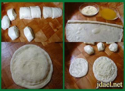 فطاير مورقة شهية بعجينة بيتي بحشوة البطاطس والجبن
