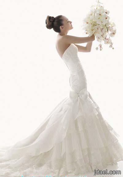اجمل فساتين الزفاف للعرايس موديلات العروسه بالتول وكلفة البلاسيه