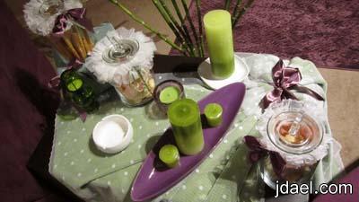 اعمال يدويه بقماش التل والازارير لخياطة خداديات ومفارش طاولات