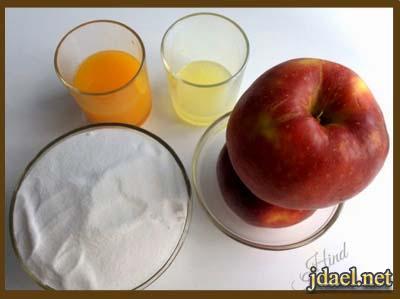 مربى التفاح بيتي باسهل طريقه بيدك بالصور