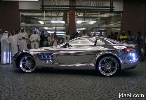 صور سيارة المرسيدس slr المصنعه بالذهب الابيض مرسيدس مكلارين